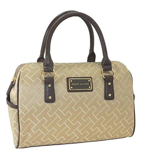 Tommy Hilfiger Handbag, Signature Jacquard Bowler Satchel