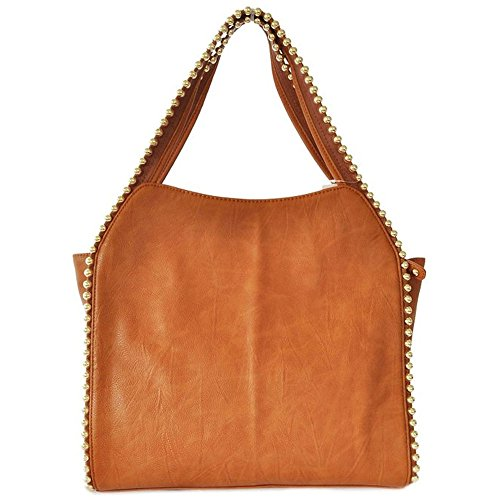 BIG BUDDHA Grayson Shoulder Bag, Tan, One Size