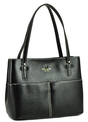 Kate Spade New York Womens Grand Street Small Gabriel Tote Shoulder Bag, Black