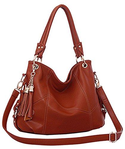 BG® Women Retro Tassels Casual Hobo Style PU Leather Shoulder Handbags