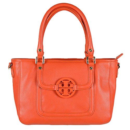 Tory Burch Amanda Leather Mini Satchel Blood Orange