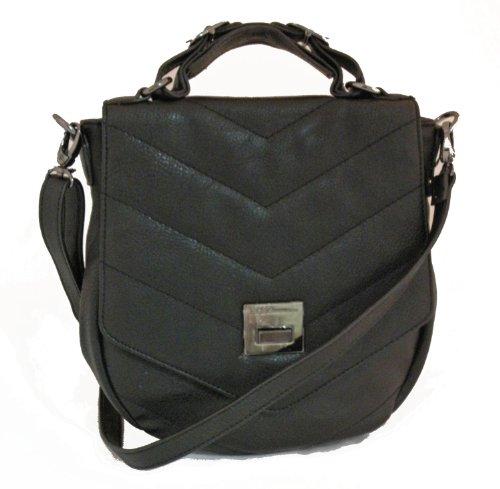 BCBGeneration Black Flap Crossbody Handbag