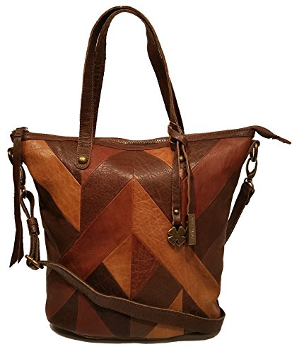 Lucky Brand Piece Train Chocolate Multi Small Leather Bag LB2037