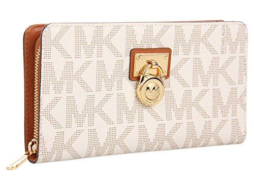 Michael Kors Hamilton Signature Continental Vanilla Wallet