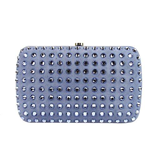 Gucci Ladies Aqua Broadway Suede Clutch Bag 310005 4360