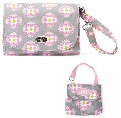 Lillybit Diaper Clutch Bag & Paci Pouch, Floral