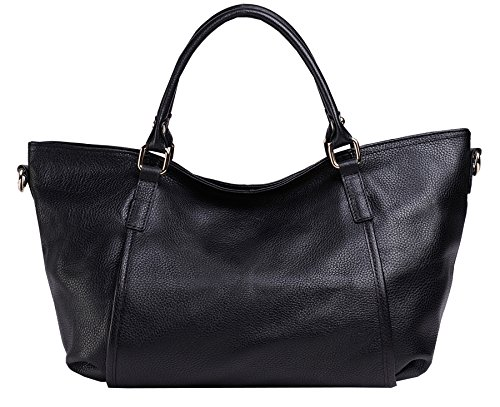 Heshe Lady's Genuine Leather New Fashion Casual Simple Style Tote Top Handle Crossbody Shoulder Bag Satchel Purse Women's Handbag