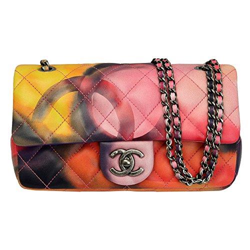 Chanel Women's Multicolor Lambskin Leather Flap Chain Shoulder Bag A92853