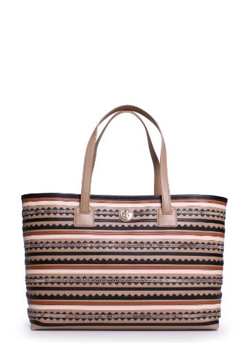 Tory Burch Robinson Zig-Zag East West Tote