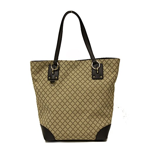 Gucci Diamante Canvas and Leather Medium Business Portfolio Tote Bag