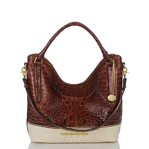 Brahmin Coquette Tri-Texture Collection Norah Handbag Hobo Bag