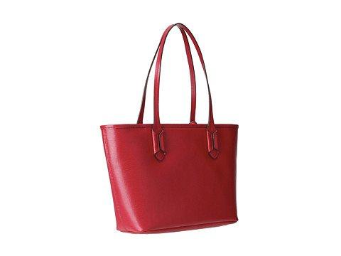 LAUREN by Ralph Lauren Womens Tate Shopper Red/Cocoa