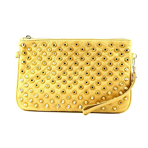 Steve Madden Studdly Womens Faux Leather Clutch