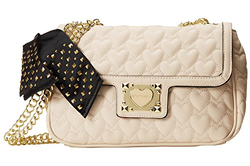 Betsey Johnson Handbag Be My Sweetheart FLAP TOTE Cream