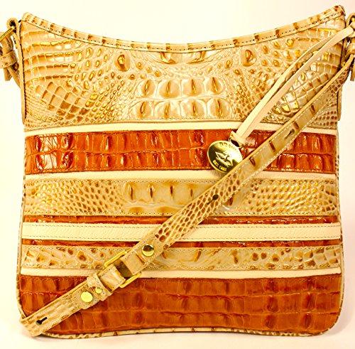 Brahmin Jody Shoulder Bag in Muslin Vineyard Croco Embossed Leather