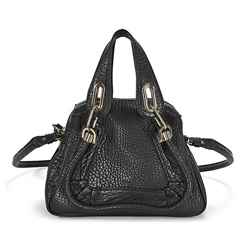 Chloe Paraty Small Leather Satchel Handbag – Black