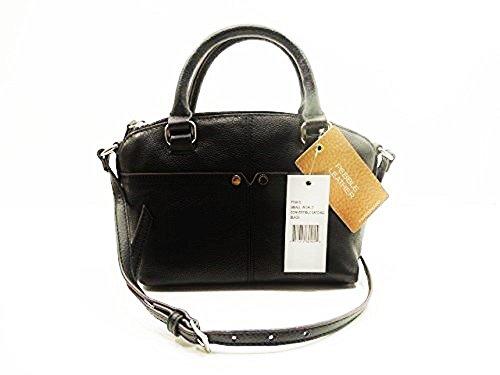 Tignanello Small World Convertible Satchel Bag Black Leather