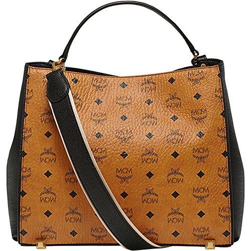 [New Arrival] 2015 SS MCM Authentic CORINA VISETOS Medium Shoulder Bag – Cognac MWS5SCN03CO