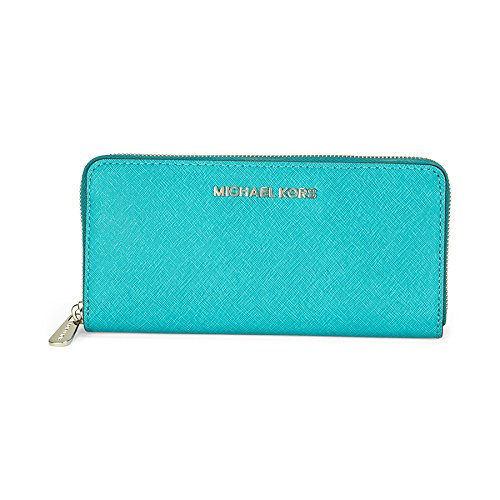 Michael Kors Leather Continental Wallet – Tile Blue