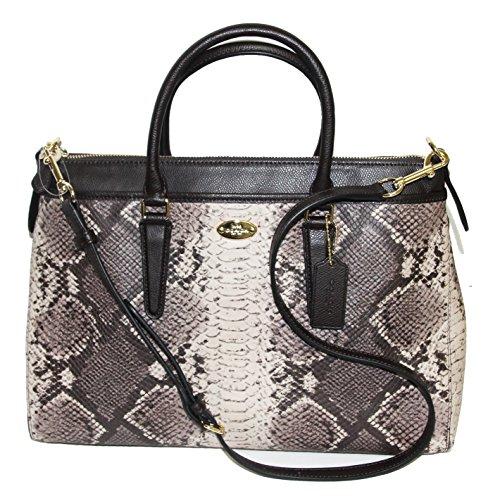 Coach Python Morgan Satchel Shoulder Bag Handbag F35881