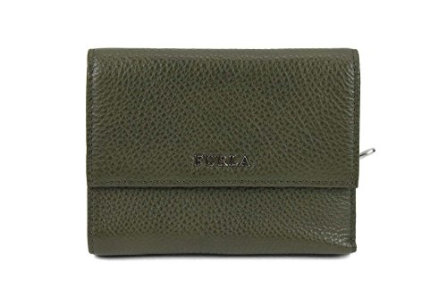 Furla Classic Leather Small Wallet in Army Green