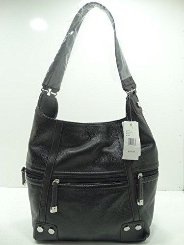Tignanello Rock City Shoulder Bag Hobo Black Leather