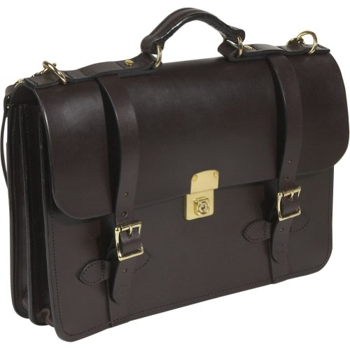 Filson Leather Field Satchel – Dark Brown