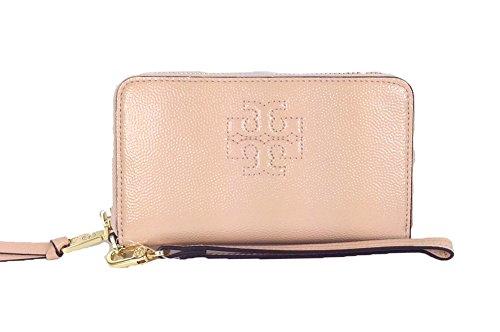 Tory Burch Thea Patent Leather Smartphone Wristlet, Light Oak (Pink)