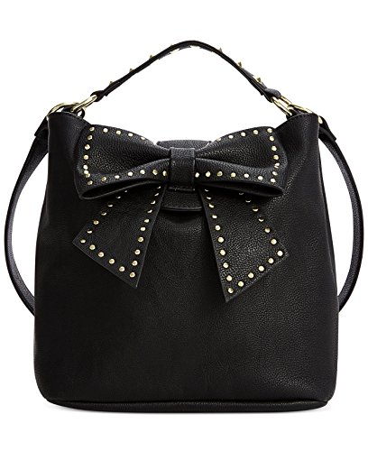 Betsey Johnson Hopeless Romantic Small Bucket Tote Bag, Black