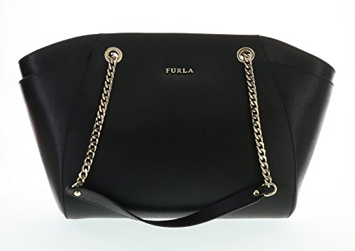 Furla Julia Saffiano Leather Hand Bag (Onyx 001)