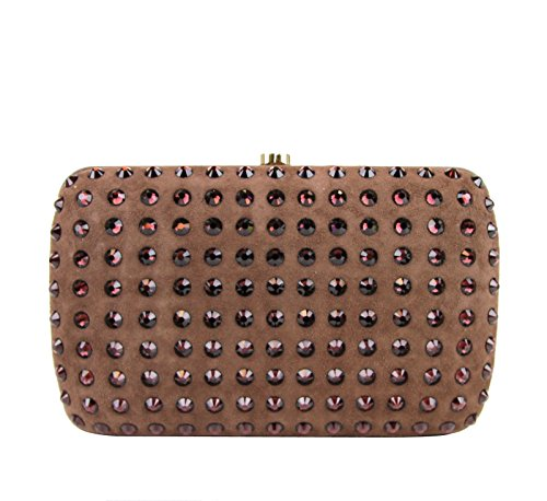 Gucci Ladies Brown Broadway Suede Clutch Bag 310005 5471