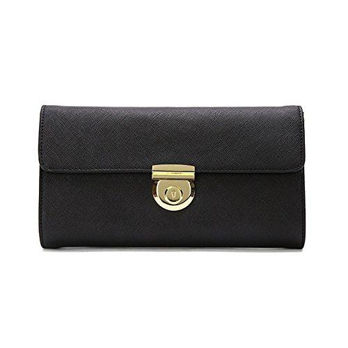 Kattee Women's Leather Cross Grain Clutch Purse Shoulder Bag