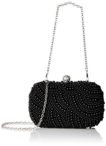 BMC Faux Pearl Encrusted Hard Case Evening Clutch-Pearled All Over Collection