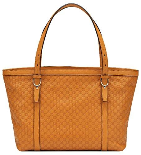 Gucci GG Orange Nice Microguccissima Leather Tote Shoulder Bag