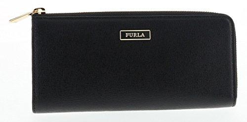 Furla Saffiano Leather Classic Zip Wallet (Onyx 001)