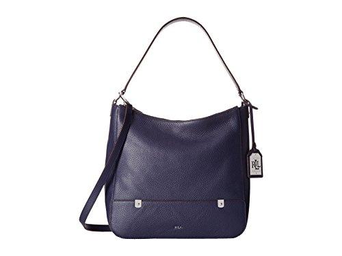 Lauren Ralph Lauren Leather Hobo Morrison Double Zip Hobo Marine Blue