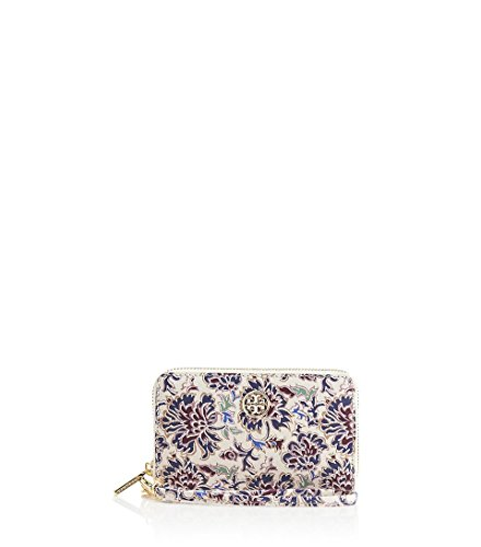 Tory Burch 32149091 Robinson Printed Smartphone Wristlet Voyage Floral Gold