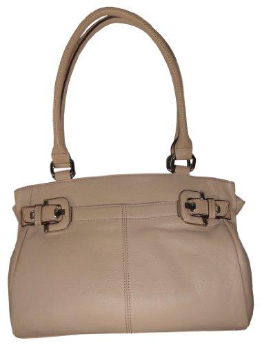 Tignanello Purse Handbag Ellie East/West Shopper Creme Brulee