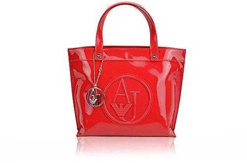 Armani Jeans Little Shopping Bag Patent Faux