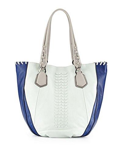 orYANY Lyssie Pebbled Leather Colorblock Shoulder Bag Tote, Sea Foam/Multi