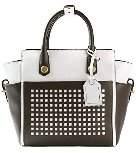 Reed Krakoff Leather Mini Atlantique Tote Satchel Shoulder Bag Handbag Purse