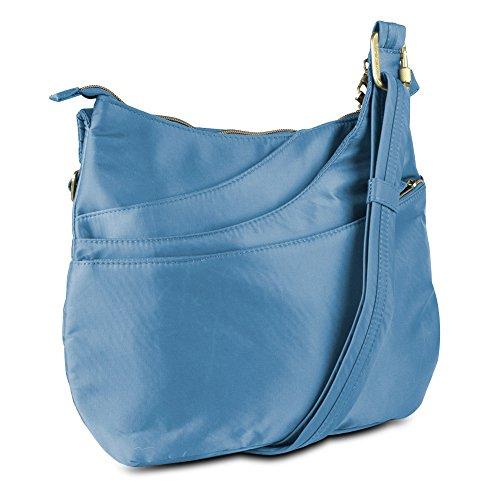 Travelon Anti-Theft Drape Pocket Crossbody – Blue