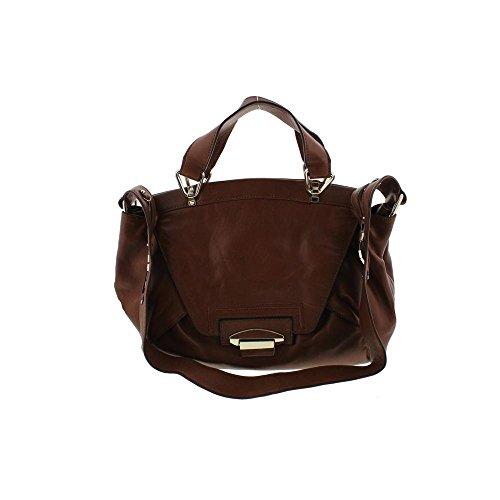 Kooba Womens Leonard Leather Flap Satchel Handbag