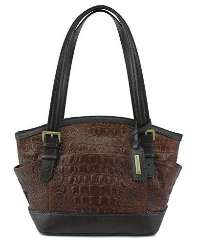 Tignanello Classic Beauty Leather Croco Dome Shopper, Style T67625