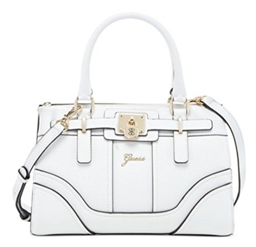 GUESS Greyson Small Satchel Bag, White