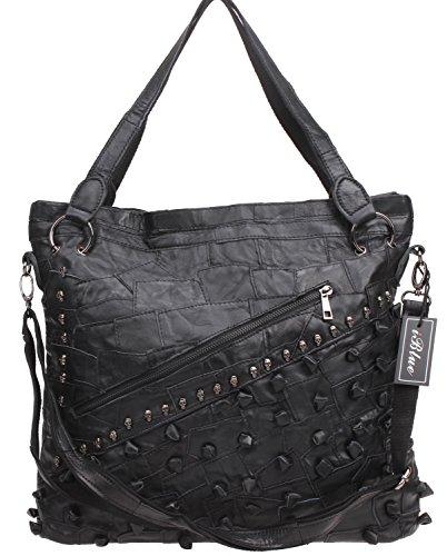 Iblue 15 Inch Women's Lambskin Tote Handbags Satchel Crossbody Purse Bag #6213