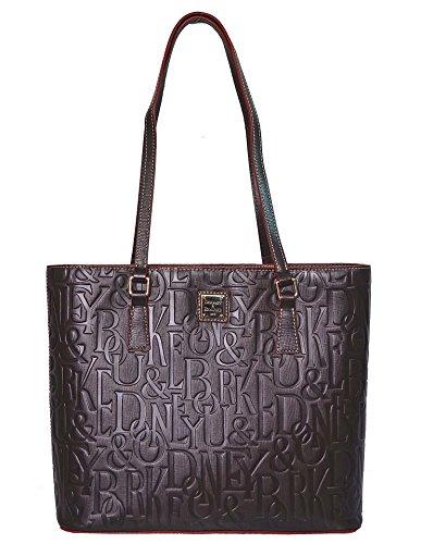 Dooney & Bourke Bag DB Retro Embossed Lexington Tote, Brown Purse Handbag