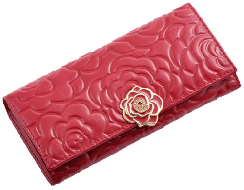 Heshe® 2015 New Women Fashion Waxy Vintage Genuine Leather Rose Pattern Long Wallet Large Handbag Clutch Coin Cash Holder Card Case