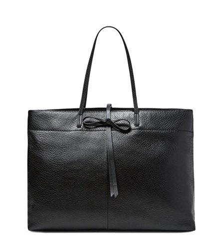 Zac Posen 'Elizabeth' Leather Shopper Tote Bag Handbag Black