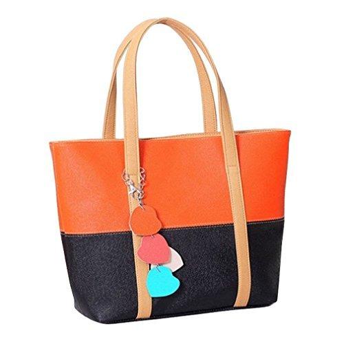 Towallmark 1PC Sweet Elegent Mixed Color Totes Chain Pendants Hobo Shoulder Bag Handbag (Orange)